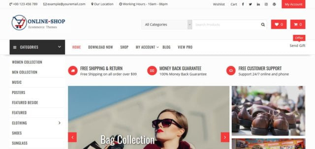 Template Online Shop Gratis