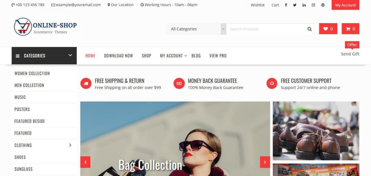 Template Online Shop Gratis